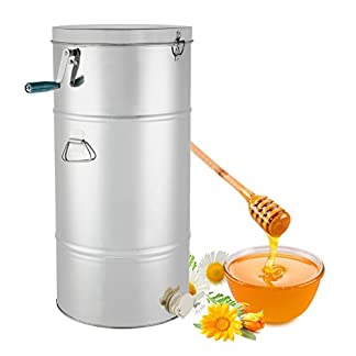 BuoQua 73cm Honey Extractor Manual Smelator for 2 Honeycomb Extractor Stainless Steel Four Beekeeping Frames 24