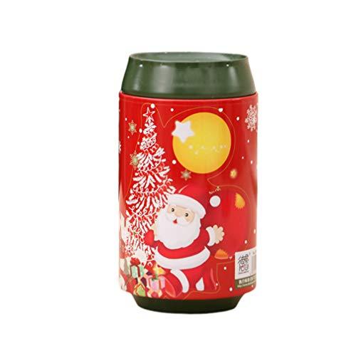 Amosfun stehlen Weihnachten Geldkasten Eisen Süßigkeiten Vorratsglas (Stil a) Geldmünzenbank Münzenbank