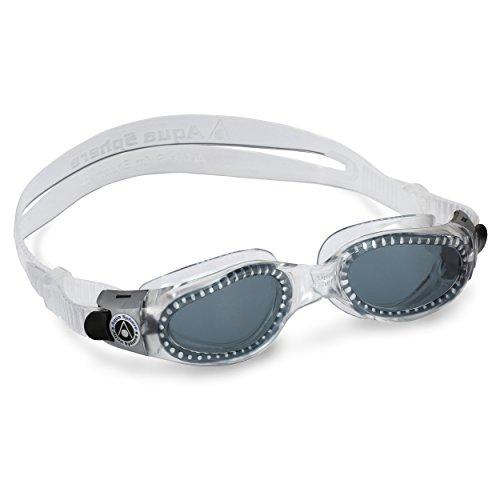 Aqua Sphere Schwimmbrille Kaiman, mit getönten Gläsern und transparentem Rahmen, normales Modell für Erwachsene