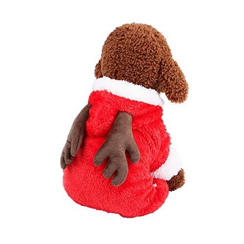 Doublelift Haustier Hund Katze winterVerkleiden Sich niedlich Kostüm Set Pullover T-Shirt pet Kleidung Unisex Haustier Winterkleidung Welpen Hundekatze Mantel Kleid Strickjacke-Kleid