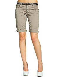 CASPAR BST005 Damen Baumwoll Chino Shorts