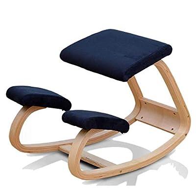 Yogastühle Student Zervikale Orthopädische Stühle Kinder Fitness Orthopädische Stühle, Erwachsene Yoga-Übungen Anti-Campingstühle Position Korrekturstühle Form (Farbe: Dunkelblau)