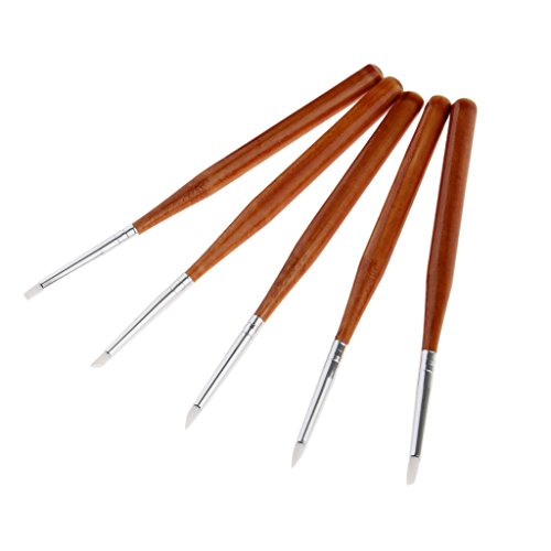 sharplace 5X Professional Nail Art Pen | Gel pennello | pittura di | | Pennelli Nail Art spazzola Kit Attrezzi, Dotting Tools Set