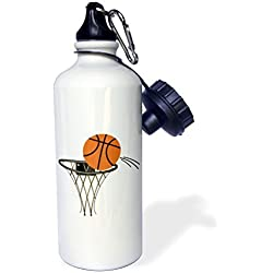 liandun Cartoon Baloncesto Basket botella de agua deportiva, Rojo, Color blanco
