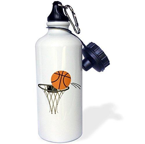 Moson Sport-Trinkflasche, Geschenk für Kinder, Mädchen, Jungen, Cartoon-Basketballkorb, Edelstahl, Wasserflasche für Schule, Büro, Reisen, 535 ml