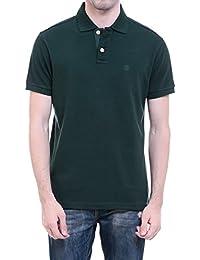 CHKOKKO Two Button Half Sleeves Polo Cotton T Shirts For Men…