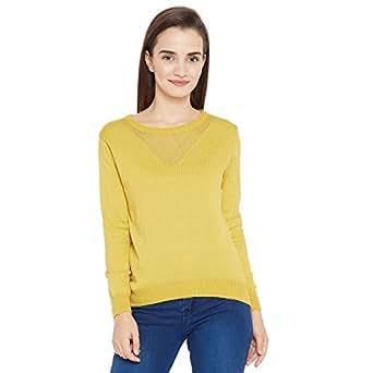 CAMEY Women's Woolen Top (Yellow; Free Size)