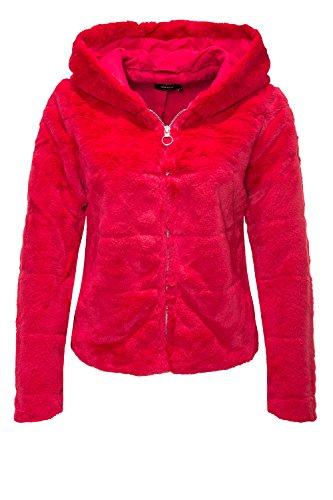 ONLY Damen Jacke Onlchris Fur Hooded Jacket CC OTW, Rosa (Virtual Pink Virtual Pink), 38 (Herstellergröße: M)
