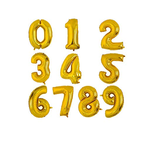 Birthday Balloons Helium Ballon Anzahl Zahlen Happy Birthday Dekorationen Party Ballons Geburtstag Balon,Graduierung,Vorschlag, Weihnachten. ()