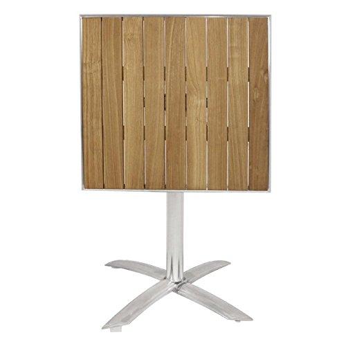 Bolero Flip Top Bistro Table Square Wood 730x600x600mm Dining Chairs Patio Bar
