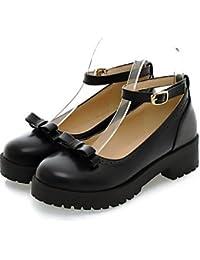 ZQ hug Zapatos de mujer-Tacón Robusto-Tacones / Puntiagudos-Tacones / Oxfords-Oficina y Trabajo / Vestido / Casual-Semicuero-Negro / Rojo / Gris , red-us9 / eu40 / uk7 / cn41 , red-us9 / eu40 / uk7 / cn41