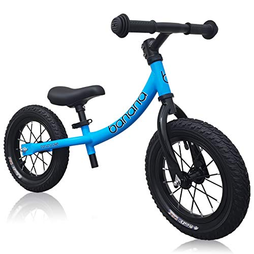 Banana GT - Laufrad 12 Zoll Lauflernrad Kinderrad für Jungen und Mädchen Kinder 2, 3, 4 und 5 Jahre (Blau)