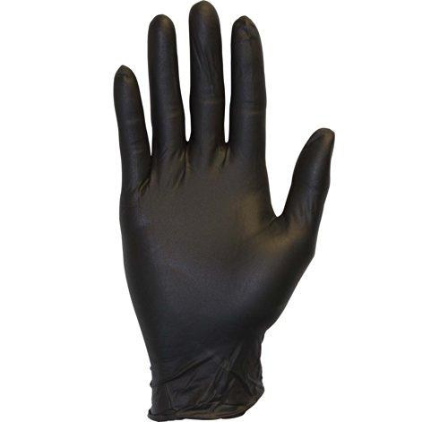 Schwarz Nitril Exam Handschuhe–Medical Grade, Einweg, puderfrei, Latex Gummi frei, strapazierfähig, strukturierte, nicht steril, Arbeit, Medical, lebensmittelecht, Reinigung, Großhandel (Strapazierfähiger Latex-handschuhe)