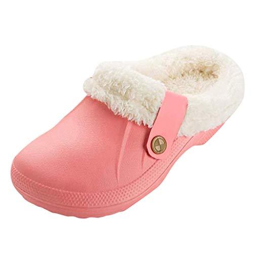 Pantofole da Donna Foderate Calde Unisex Zoccoli Scarpe da Giardino per Interni/Esterni Impermeabili per Donna/Uomo di Kinlene
