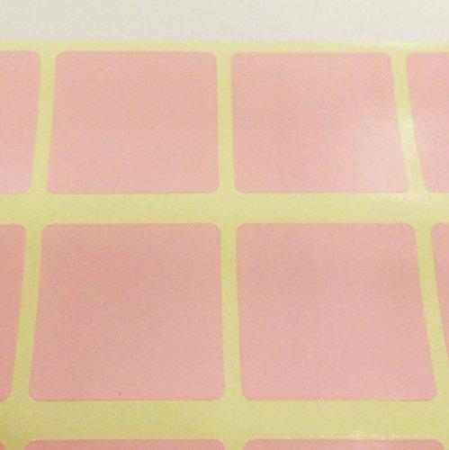 Pack Of 500 - 25mm Escuadra Código De Color Pegatinas / Etiquetas Adhesivas - Elija Su Color/s - Rosa Claro, 25mm Square