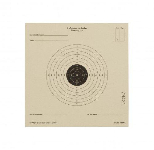 1000 Original Umarex 10 Ring Zielscheiben 14x14 cm für Luftgewehr / Softair 250 g / Qm