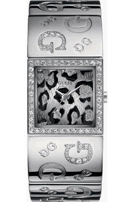 Guess G2G Animal 80018L1 – Reloj de mujer de cuarzo, correa de acero inoxidable color plata