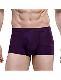 HOEREV Men's Bamboo Fibre Briefs Underwear