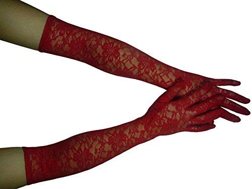HO-Ersoka Damen Handschuh Spitze lang Oper Ball Kostüm (Braut Kostüme Halloween Prinzessin)