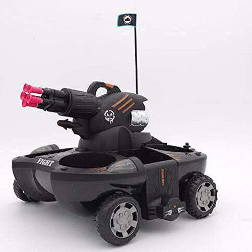 Ledu Ferngesteuerter Panzer, RC-Panzer-Ladestart Zielferngesteuertes Auto 360 ° drehbarer Blitz Amphibien Amphibienboot Kinderspielzeug,Black - 3-wege-blinklicht