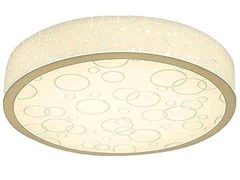 FYN LED Plafonniers 24W Round Diamètre 40cm, Abat-jour acrylique, Simple, Romantique, Dimmable, Éclairage pour Salon, Chambre à coucher, Chambre d'enfants, Salle à manger, Plafonnier