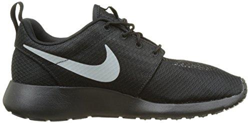 Nike Herren Roshe One Low-Top Schwarz (Black/matte Silver-flot Silver)