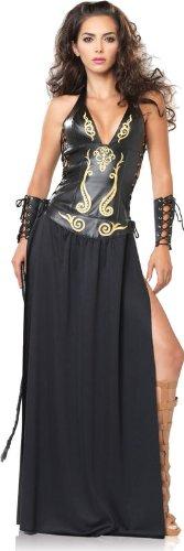 Leg Avenue - Krieger Göttin Kostüm 2-teilig - S - Schwarz/Gold - 83511 (Amazon Krieger Kostüme)