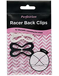 e27322a184e Perfection Racer Back Clips Bra Strap Converter To Hide Bra Straps - Pack  Of 3 Black