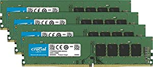 Crucial CT4K8G4DFS824A 32 GB Kit di Memoria (8 GB x4), DDR4 2400 MT/s PC4-19200 SR x8 DIMM 288-Pin