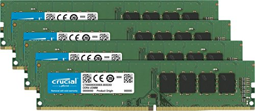 Ecc Single Rank Kit (Crucial CT4K4G4DFS824A 16GB (4GBx4) Speicher Kit (DDR4, 2400 MT/s, PC4-19200, Single Rank x8, DIMM, 288-Pin))