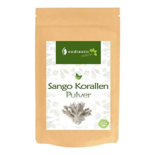 Foodtastic Sango Koralle Pulver 250g | hochdosierte Calcium und Magnesium Quelle | 100% Naturprodukt | Vorrat für 4 Monate | frei von Zusätzen | kombinierbar mit Vitamin D3 und Vitamin K2 (Magnesium Calcium Pulver)