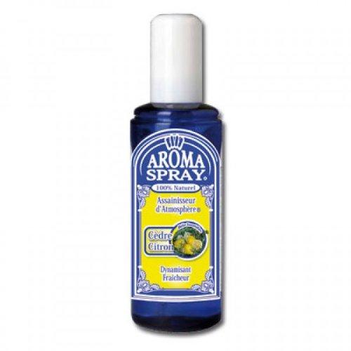 AROMA SPRAY - Spray d'Ambiance - Aromathérapie - Cèdre Citron - Dynamisant fraîcheur - Huiles Essentielles 100% pures et naturelles - 100 ml
