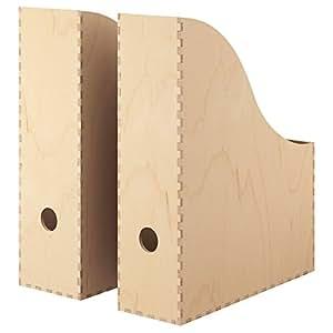 ikea zeitschriftensammler knuff holz aufbewahrungsbox im. Black Bedroom Furniture Sets. Home Design Ideas