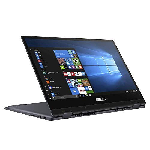 ASUS VivoBook Flip 14 TP412FA (90NB0N31-M03490) 35,5cm (14 Zoll, FHD, WV, Touch) Notebook (Intel Core i5-8265U, 8GB RAM, 512GB SSD, Intel UHD-Grafik 620, Windows 10) Star Grey