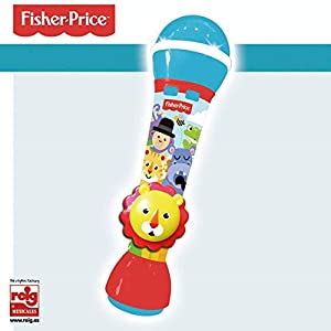 Reig-2720 Fisher Price Microfono Mano león 20 cm, Multicolor (2720)