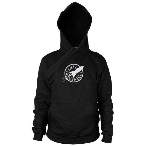 Futurama Zoidberg Kostüm - Planet Express - Herren Hooded Sweater, Größe: XXL, Farbe: schwarz