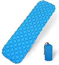 WHBLLC Outdoor Inflatable Mat TPU Lunch Mat Single Egg Nest Air Mat Camping Mat Camping Mat 450g Ultra-Lightweight Easy to Carry Foldable Ultra (Sky-Blue)