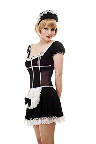 DRESS ME UP Kostüm Damen Damenkostüm Sexy Maid Hausmädchen Zimmermädchen Zofe L063 Gr. 36 / S (Kostüm Sklavin)