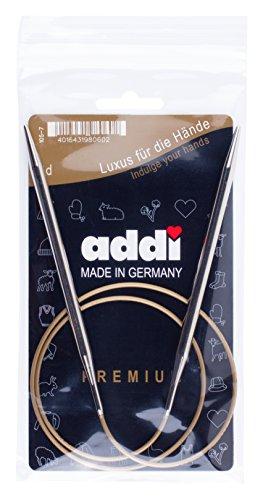addi Rundstricknadeln 80 cm, Stärke 3, 50mm Rundstricknadel, Metall, Silber, 20 x 10 x 0.3 cm, 1 Einheiten (Rundstricknadeln 50)