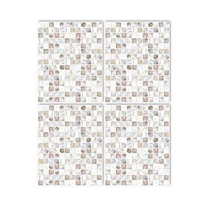 Boubouki - Wasserabweisende Fliesenaufkleber für Bad und Küche - Pearl 01-20x25cm