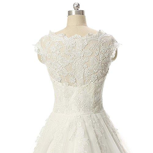 JAEDEN Donne maniche ad aletta Abiti da sposa Lungo Tulle Vestito da matrimonio Bianco