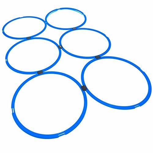 #DoYourFitness® 6X Koordinationsringe - Größe 39cm o. 49cm - Steckverbindung BZW. Stecksystem - Agility Rings/Koordinationsgitter zur Steigerung Schnelligkeit/Beweglichkeit 39cm(blau)
