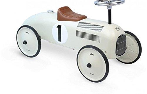Porteur voiture vintage - blanc crème - Vilac
