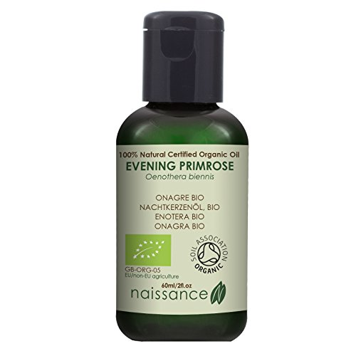 Naissance Organic Evening Primrose Oil 60ml - Pure, Natural, Certified Organic, Cruelty Free, Vegan - Nourishing and Hydrating for All Skin Types