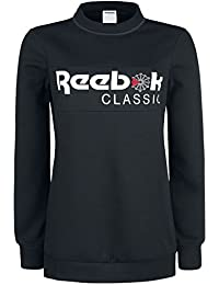 Reebok Iconic Fleece Crew Girls Sweatshirt Black XL
