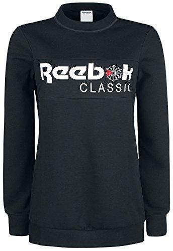 Reebok cd8235, Sweatshirt Damen XS schwarz Frauen Reebok Sweatshirt