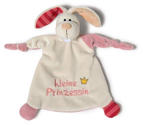"""Nici 40042 Schmusetuch Hase, Botschaft und Bildmotiv gestickt,\""""kleine Prinzessin\"""", 25 x 25 cm"""