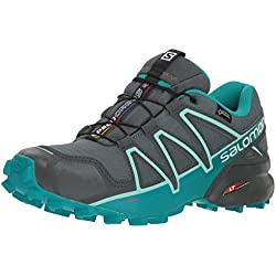 Salomon Speedcross 4 GTX, Zapatillas de Trail Running para Mujer, Verde (Balsam Green/Green/Beach Glass), 38 2/3 EU