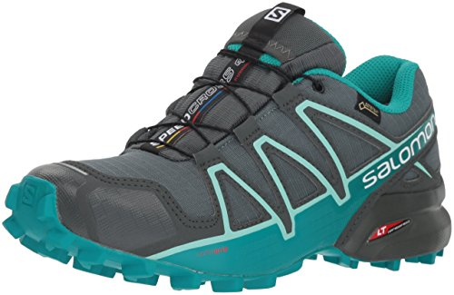 Salomon Speedcross 4 GTX W, Scarpe da Trail Running Donna, Verde (Balsam Tropical Green/Beach Glass), 36 2/3 EU