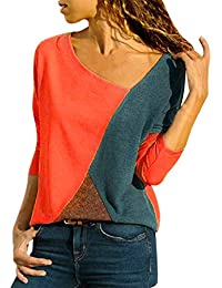 Camiseta Blusa de Manga Larga con Cuello Redondo para Mujer Blusas de Fiesta Camisetas Mujer Originales Jerseys Suéter Otoño Invierno